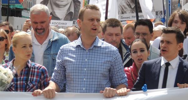 Yulia_Navalny,_Alexey_Navalny,_Anna_Veduta_and_Ilya_Yashin_at_Moscow_rally_2013-06-12_1