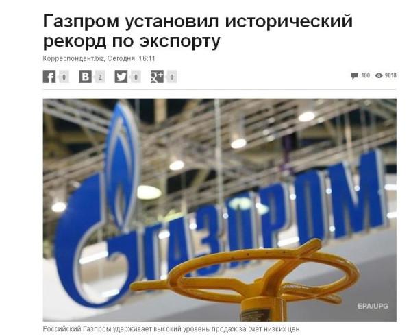 Газпром рекодр