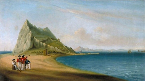John_Mace_-_North_View_of_Gibraltar_from_Spanish_Lines