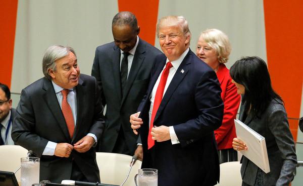 donald trump UN General Assembly antonio gueterrez nikki haley
