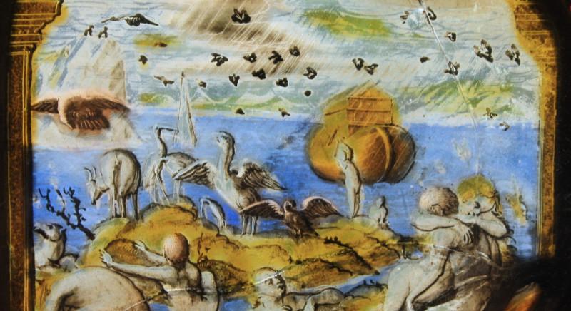 """""""Ноев ковчег в потопе"""", монастырь Веттингенского аббатства."""