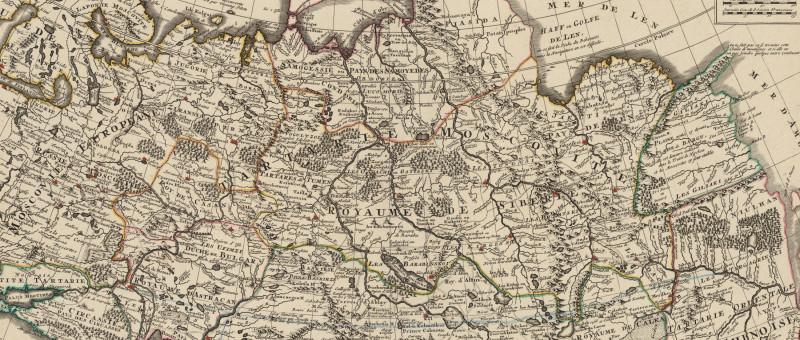 фрагмент карты Тартарии Гийома де Лиля, 1733г.