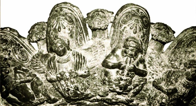 фрагмент бронзовой этрусской лампы, 4 век до н.э. Коллекция: Музей Accameia Etrusca, Кортона, Италия. Фото: Courtesy Frances Van Keuren