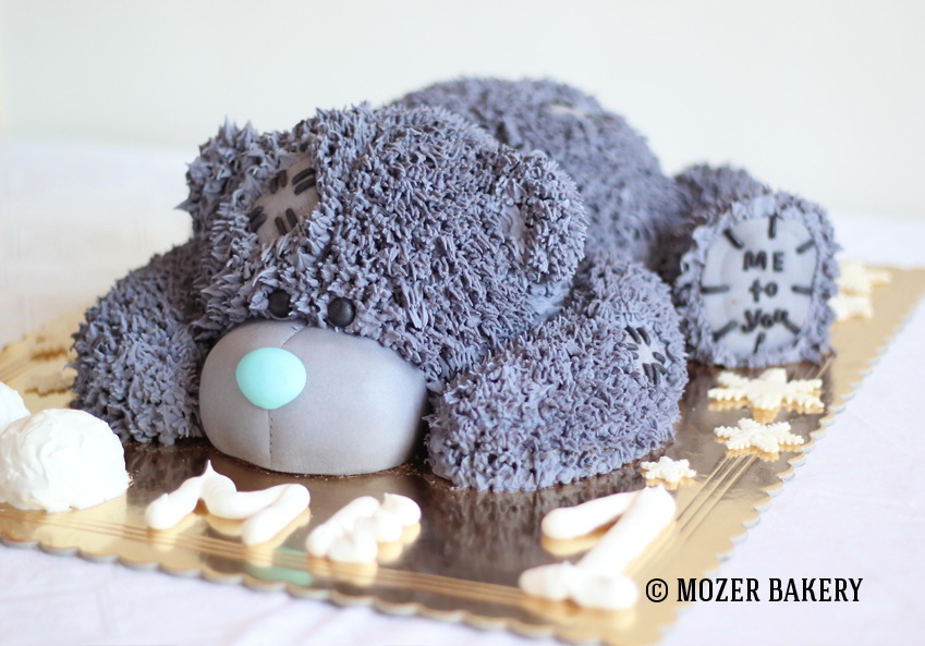 Торт мишка тедди из крема мастер класс фото