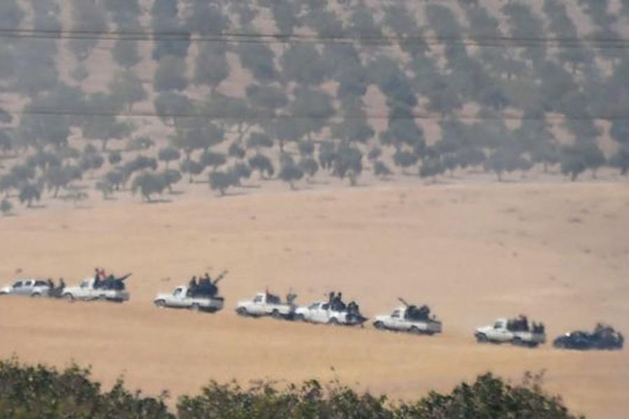 ССА выдвигается в сторону Сирийской границы. Фото с сайта ВВС.