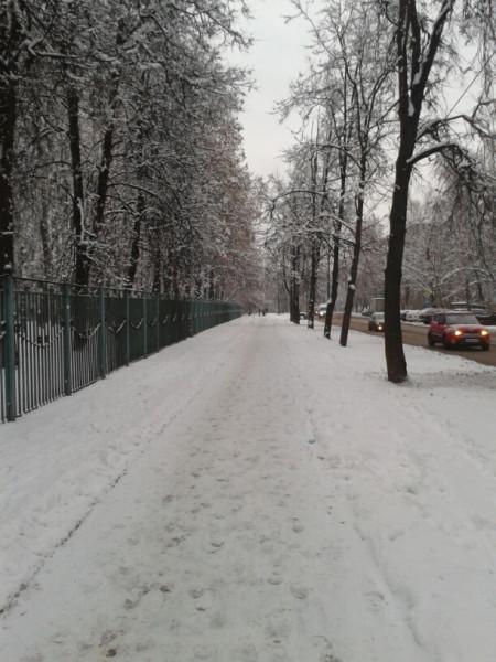 Зима в новогиреево)