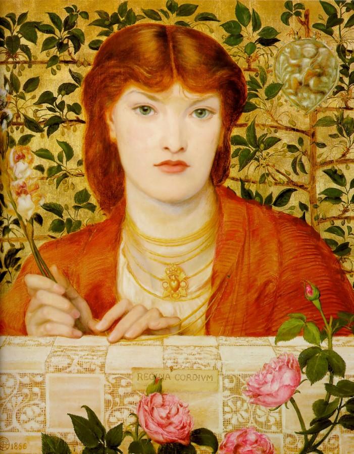 Dante Gabriel Rossetti. Regina Cordium - Alexa Wilding, 1866