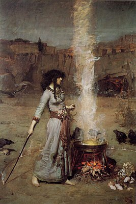 The Magic Circle. 1886, John William Waterhouse