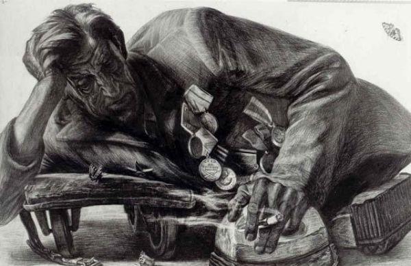 Никогда снова... войны, солдат, художник, войной, ранен, фронте, добровольцем, обеих, лишился, время, жизни, фронт, только, Война, Валаам, Добров, Москвич, острове, почти, сражался