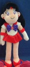 SM Sailor Mars plastic eye soft plushie