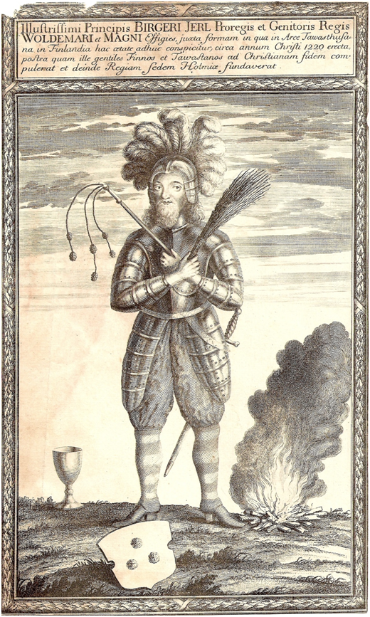 Ярл Биргер. Гравюра XVII века. Швеция.