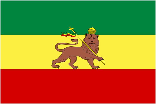 Флаг Эфиопии (1897—1974) со Львом Иуды