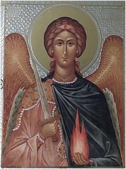 Русская икона Архангела Уриила