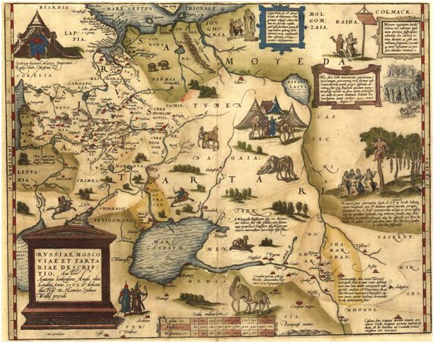 «Карта Руссии, Московии и Тартарии» Энтони Дженкинсона, 1562 год