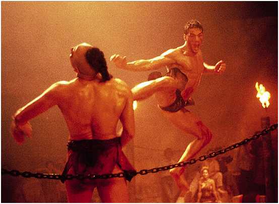 «Кикбоксёр» с Ж.-К. ван  Даммом, 1989 г.