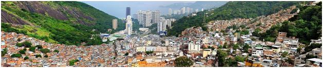 Панорама фавелы Росинья, Рио-де-Жанейро