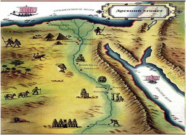 Карта единого Древнего Египта
