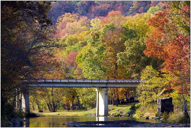 Осень в Арканзасе. Мост Логово дьявола