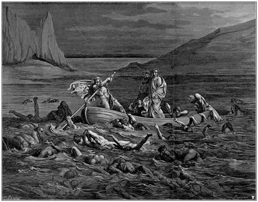 Стикс. Гравюра Гюстава Доре, 1861