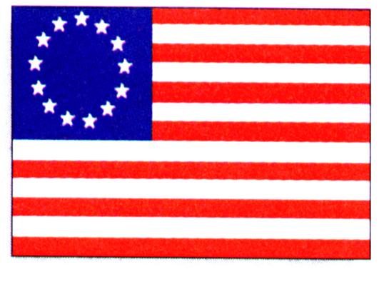 Первый официальный флаг  США 1777г