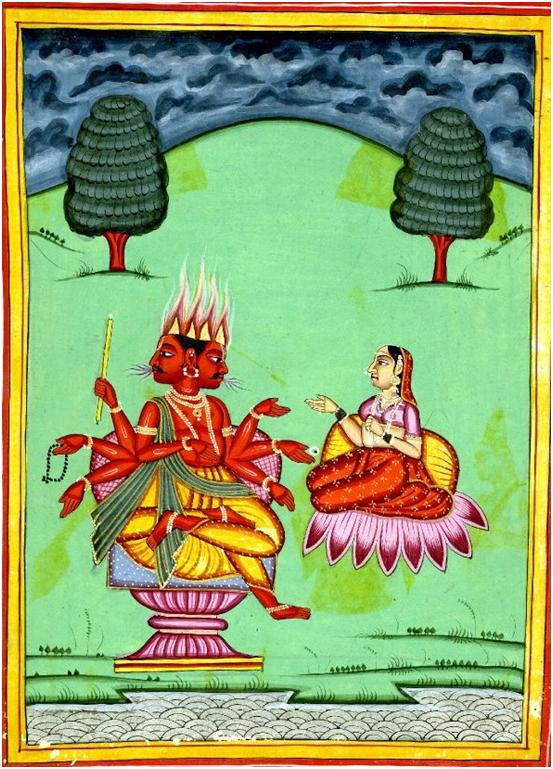 Агни и Сваха (честно говоря, страшная  она  такая на картинке…)