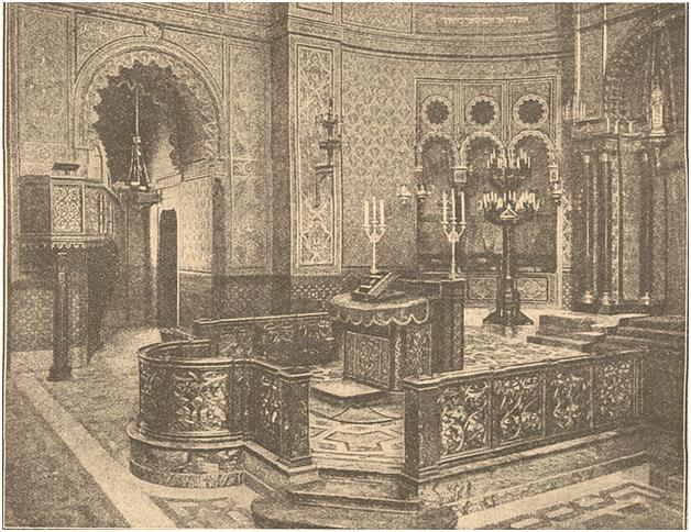 Бима во флорентийской синагоге