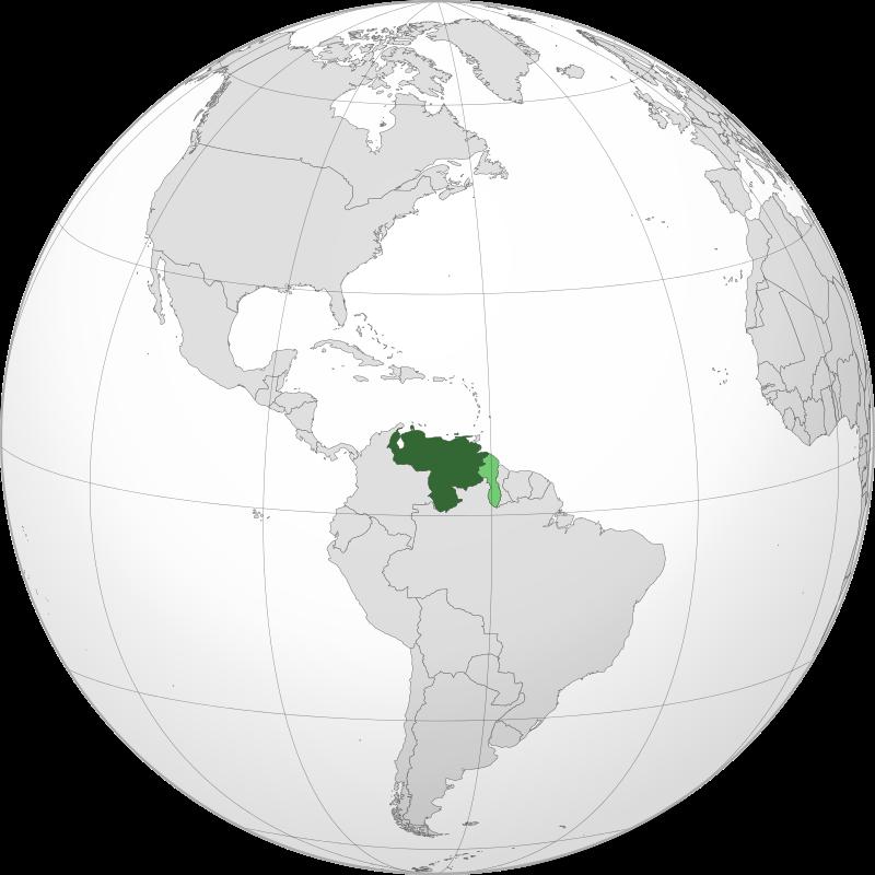 Венесуэла на карте Южной Америки