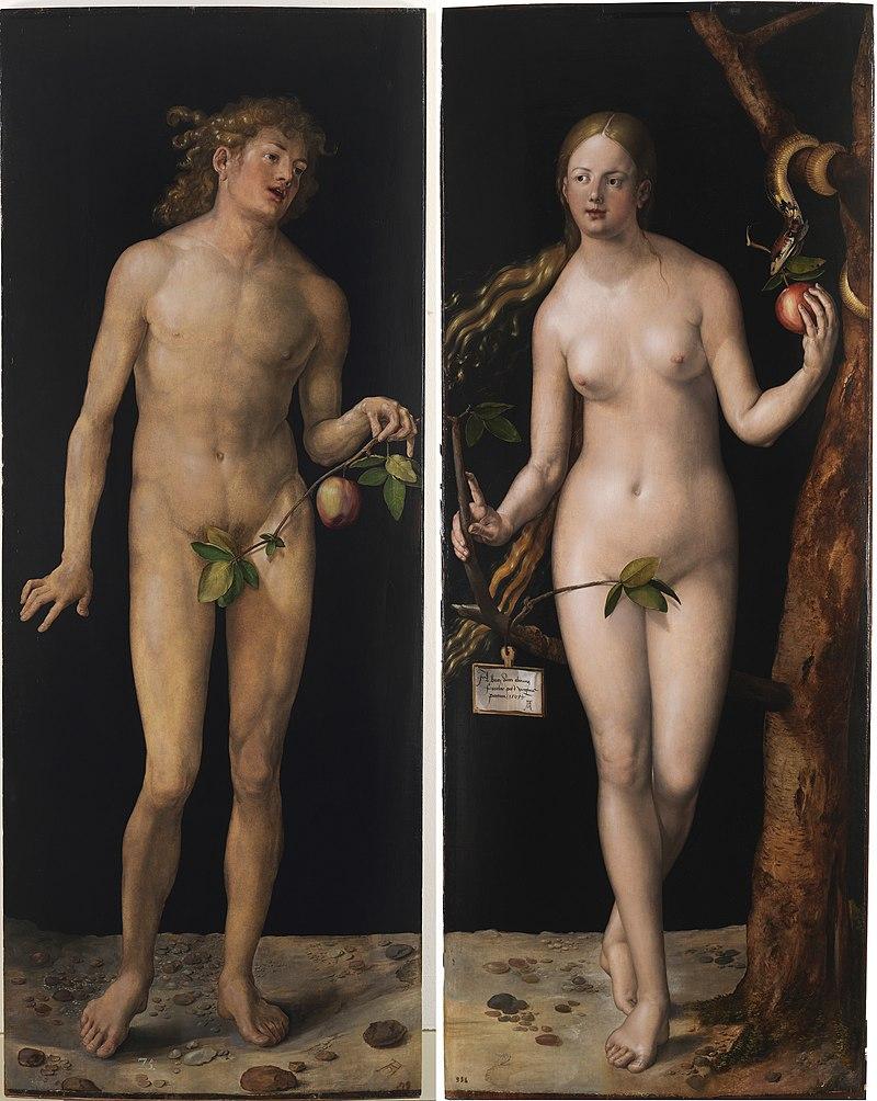 «Адам и Ева», диптих работы А.Дюрера