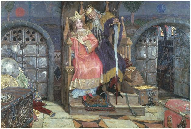 В.Васнецов. Марья Моревна и Кощей