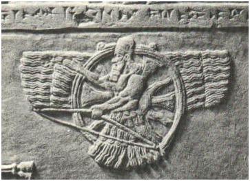 Фрагмент ассирийского барельефа с изображением Ашшура