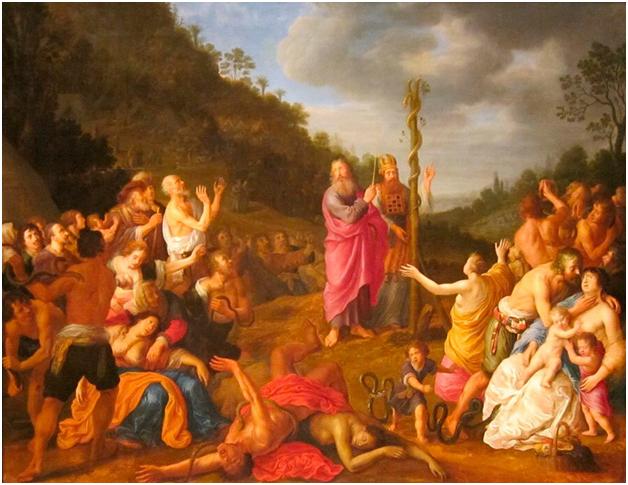 Адриан ван Ниландт. Моисей и Медный змей, 1640
