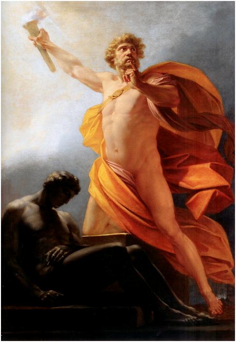 Генрих Фюгер. Прометей приносит огонь человечеству (1817).