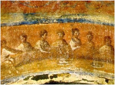 Агапа. Фреска из катакомб св. Присциллы