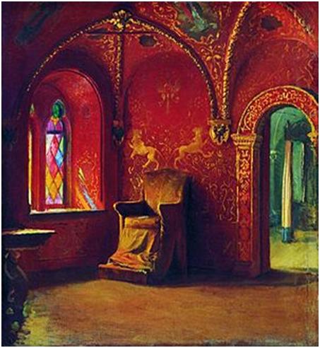 А. П. Рябушкин «Красная палата» (1899). Внутреннее убранство хором