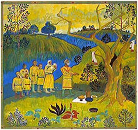 Чувашское моление у керемети. Картина А. И. Миттова