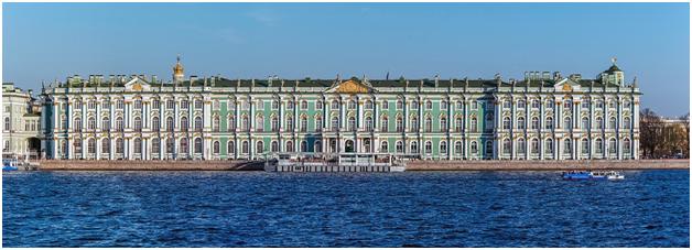 Зимний дворец в Санкт-Петербурге, вид со Стрелки Васильевского острова