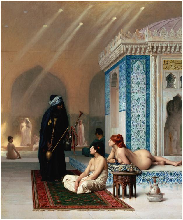 «Бассейн в гареме», Жан Леон Жером, 1876 г.
