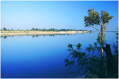 Река Замбези в Северной Западной Замбии