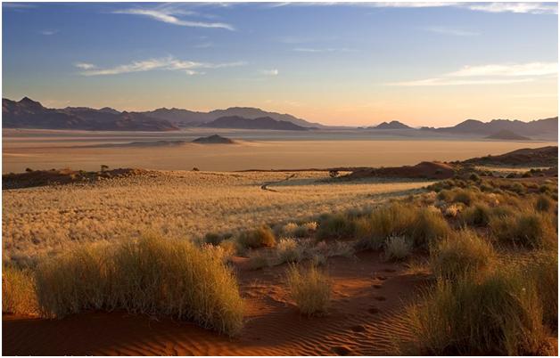 Закат в пустыне Намиб