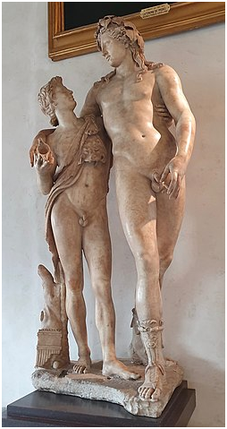 Римская статуя «Дионис и Ампел (?)».117-138 гг. Галерея Уффици.