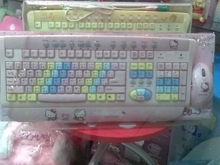 Hello Kitty Keyboard that types chinese, japanese, and english