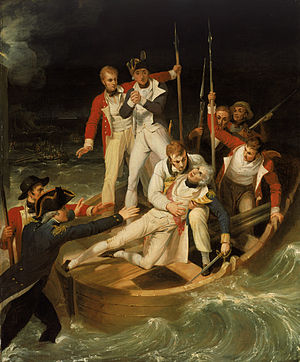 300px-Sir_Horatio_Nelson_when_wounded_at_Teneriffe