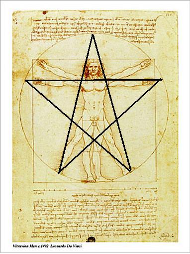 витрувианский-человек-и-пентаграмма
