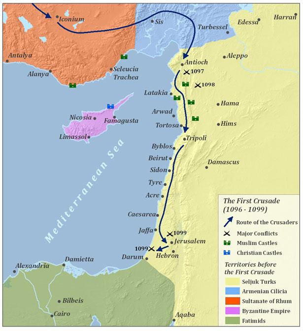Карта 1 крестового похода