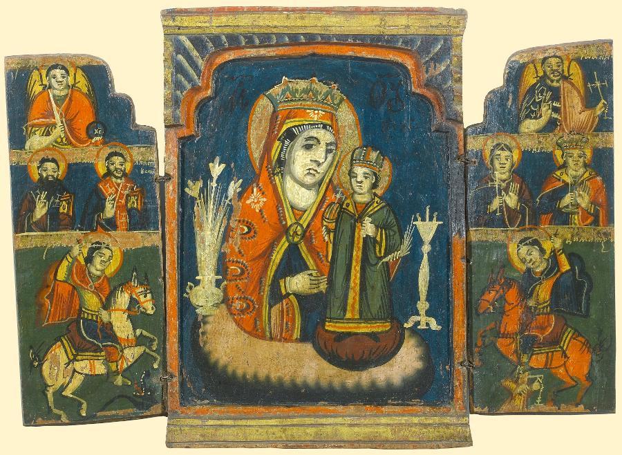 Неувядаемый цвет. Складень с Архангелами и избр.святыми. Болгария