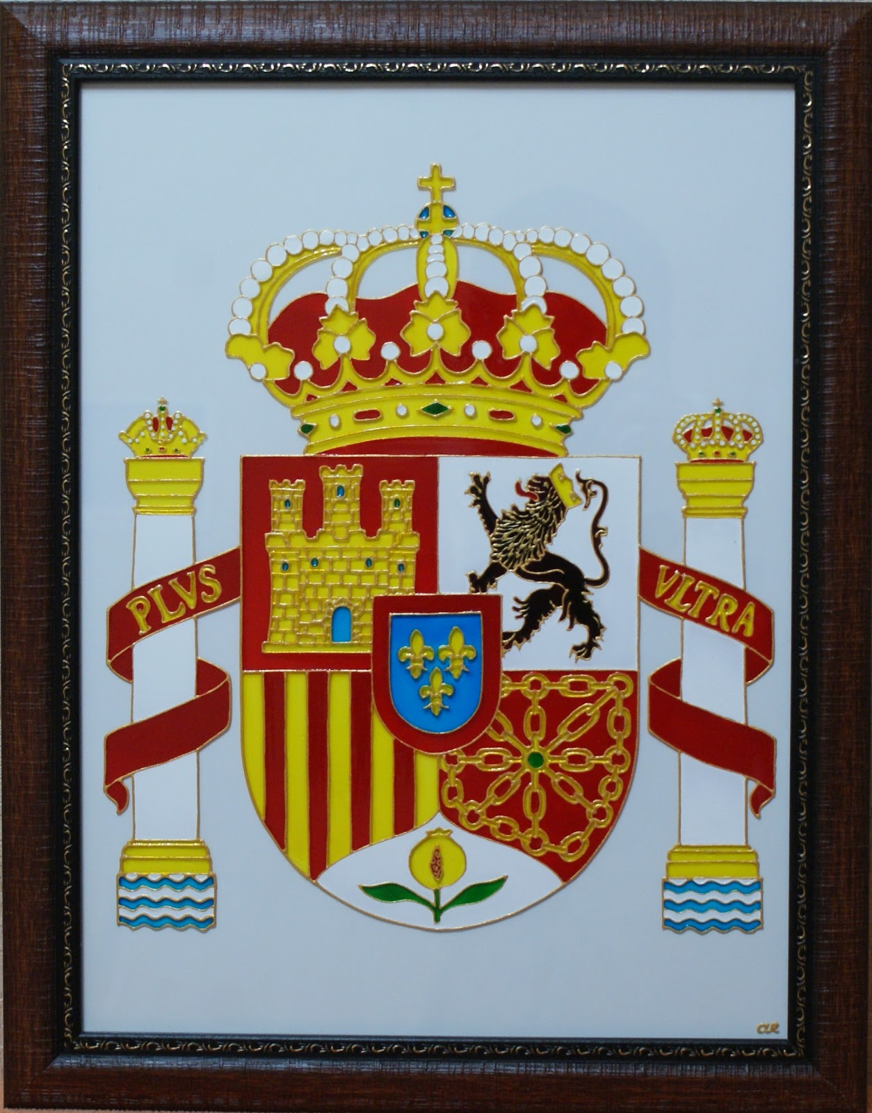 роспись по стеклу Испания