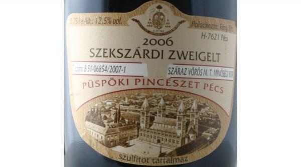 zweigelt-2006-puspoki-pinceszet-cimke