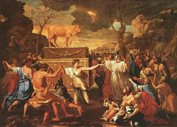 Николя Пруссен Поклонение Золотому Тельцу