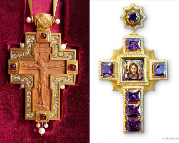 наперсный крест с укр