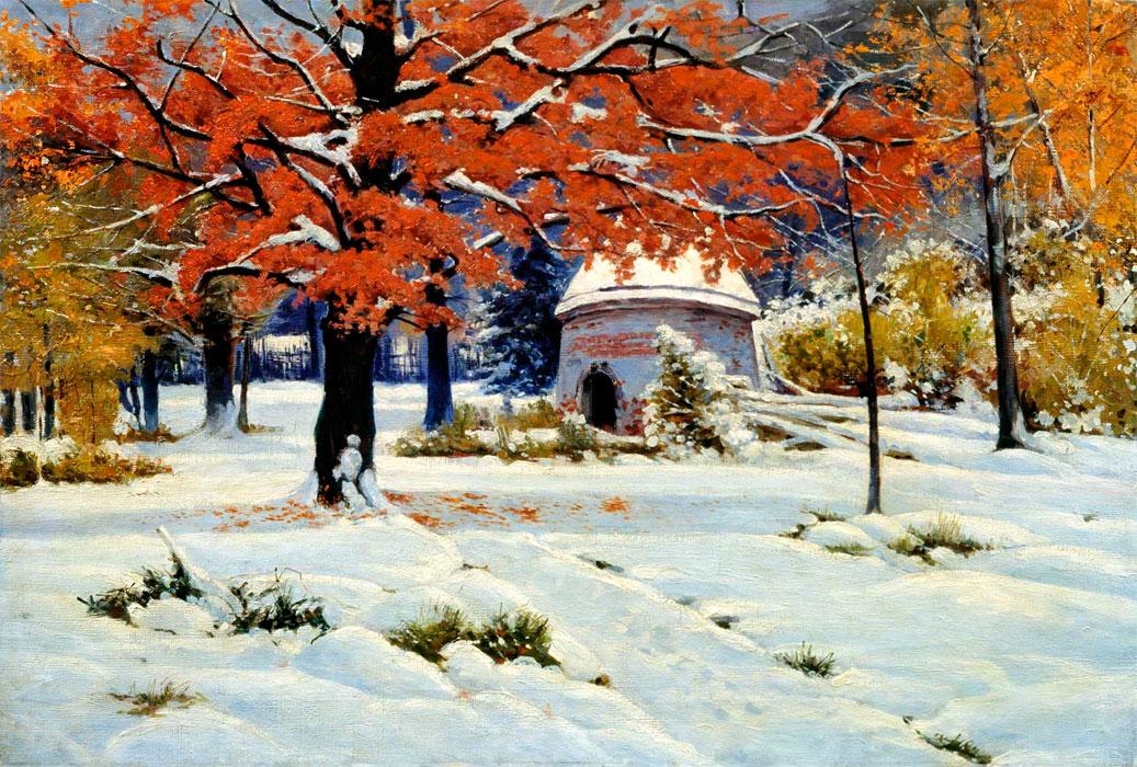 Ранний снег, 1897,Государственный художественный музей Алтайского края.jpg
